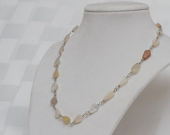 Wire wrapped Moonstone Necklace