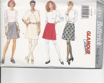 UNCUT Sewing Pattern Butterick 4150 for Skirts, Sz 14-16-18, 1990s