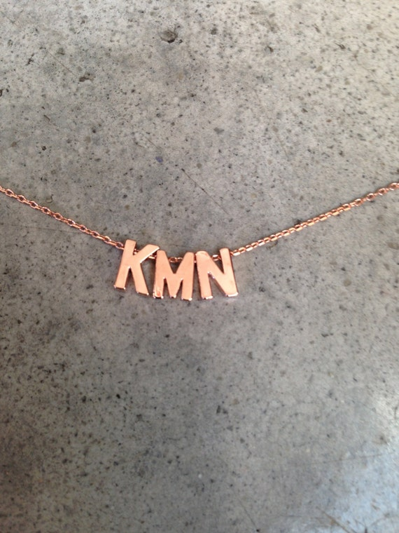 Rose gold initial necklace, personalized, personalized jewelry, initial necklace, personalized necklace