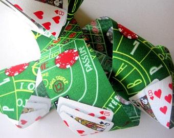 "Casino Poker Cotton Ribbon Trim, Multi / Green, 2 1/2"" inch wide, 1 yard, For Mixed Media, Scrapbook, Altered Art, Home Decor, Accessories"