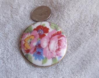 Vtg Pin-Romantic Rose Cameo-P2345