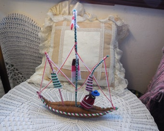 String, Yarn Art Sail Boat
