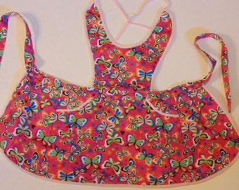 bright color butterfly apron, size 2 (HH)