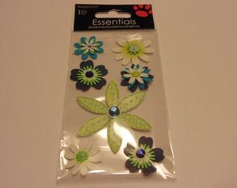 flower scrap-booking embellishments, 13-55 mm (A1)