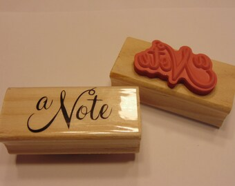 a note rubber stamp, 40 mm (SB2)