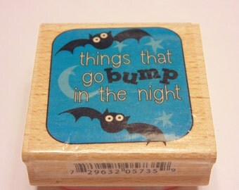 things that go bump in the night, rubber stamp, 40 mm (SB3)
