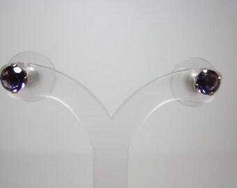 Amethyst Earrings - 14k yellow gold