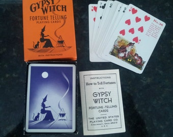Vintage Gypsy Witch Fortune Telling Complete Playing Card Game