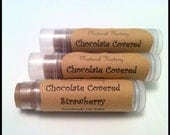Chocolate Covered Strawberry Lip Balm, Beeswax Lip Balm, Made with Organic Ingredients