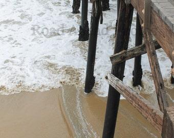 5 x 7 matted photograph of Seal Beach Pier, California, ocean