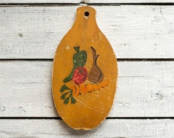 Vintage Wooden Cutting Board, Wall Decor, Kitchen Collectibles