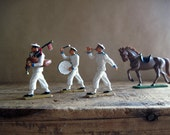 Plastic Toy Horses and Soldiers, Action Figures Starlux Made in France, Drum and Fife