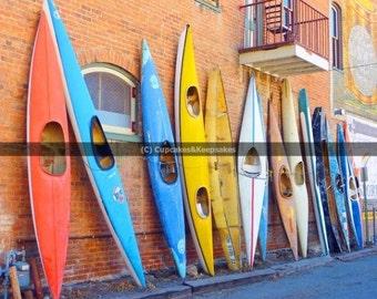 "Vibrant ""Colourful Canoes"" Fine Art Photograph"