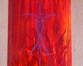 red orange flames yellow abstract modern wall art metal steel panel free shipping