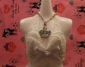 Little Silver Blue Crown Necklace for Fashion Necklace
