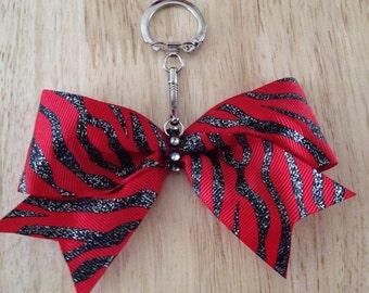 Cheer Bow Key Chain