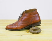 Reserved for Joe. Wingtip Boots - Whiskey Leather - Classy Leather Boots - Fratelli Rossetti -Mens sz. 10D