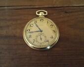 1928  17 Jewel Swiss Birks Longines Pocket watch. Fantastic shape gold filled case.