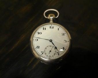 Swiss Sterling Silver, 15 jewel pocket watch. Made aprox 1890