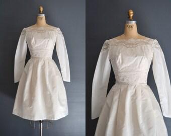 60s short wedding dress / 1960s dress / Fiona