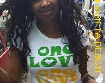 One Love T-Shirt  or top