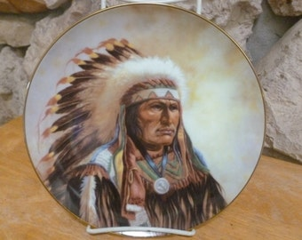 Strength of the Sioux by Gregory Perillo LE Collector plate Artafeccts LTD