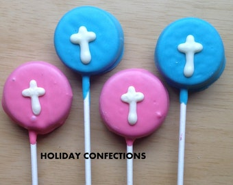 Double Stuff Oreo Cookies with a cross - baptism favors - first communion favors - party favors - Easter