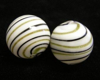 4pc 20mm handmade blown glass fancy beads-9548