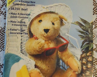 Teddy Bear and Friends June 1987 Magazine with Free 3 pattern projects - 1987 Hobby House Press, Inc