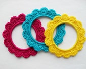 PDF PATTERN - US Terminology - small crochet picture frames