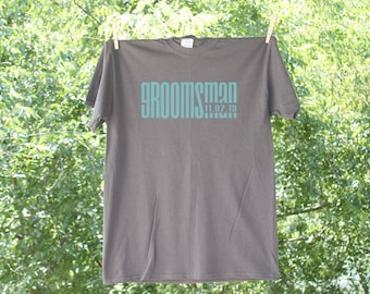 Groomsman Classic Droid with Date Wedding Party Shirt