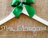 Ivory Bridal Hanger with Ribbon