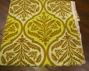 destash almost 1 yard Joel Dewberry Rose Damask green