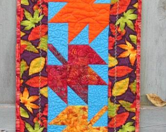 Fall Quilt, Wall Hanging, Autumn, Door Decoration,  Autumn Leaves, Fall Decor, Hostess Gift, Housewarming Gift
