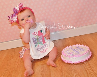 Butterfly Bib, Cake Smash, Butterfly Birthday, Personalized Bib, Birthday Bib, First Birthday