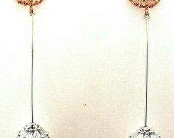 leaf earrings balls
