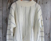 Reserved! Vintage Icelandic Sweater//White wool pullover
