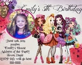 Ever After High Invitation Digital File 4X6 or 5X7