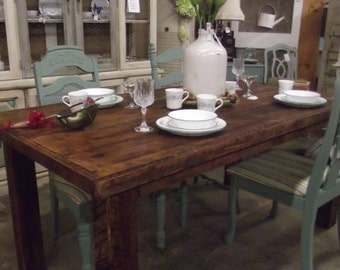 Farm house table, Dinning table, rustic table, reclaimed wood