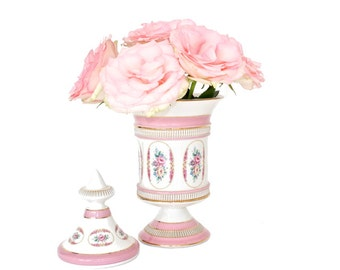 Shabby Chic Urn with Lid