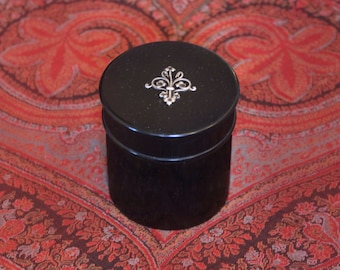 Edwardian Ebony Box With Decorative Silver Element, Vanity Item
