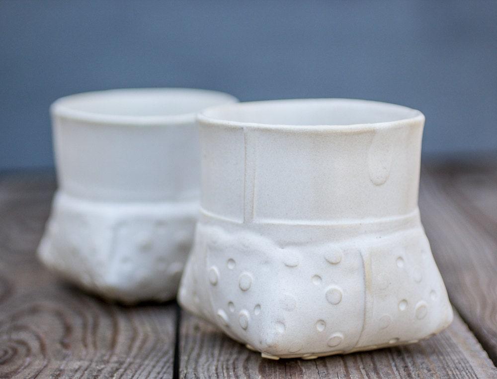White Ceramic Planter Small White Vase Dotted Planter