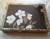 Jewelry Box Flour De Lis and Flowers made out of a Cigar Box by CJW