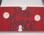 Hand painted personalized teachers door hanger room sign