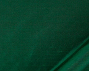 Emerald Green Silk Upholstery Fabric - Dark Green Silk Drapery Panels - Emerald Bedding Fabric - Green Euro Sham and Throw Pillow Covers