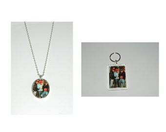 The Beastie Boys Glass Pendant Necklace and/ or Keychain