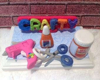 Business card holder,crafty business,mod podge,glue gun,glue sticks,craft business card holder,craft business,handmade business card holder