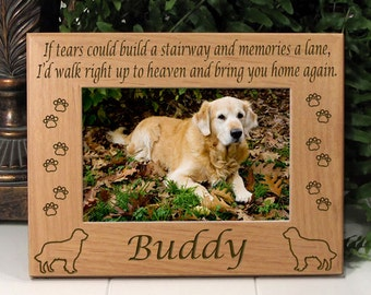 Golden Retriever If Tears Poem Dog Memorial Frame