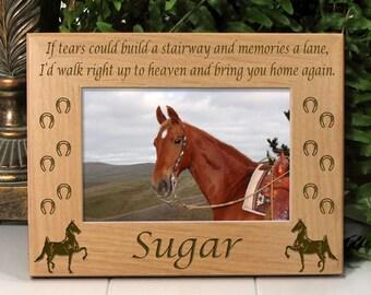 "American Saddlebred Horse Frame - ""If Tears"" Poem"