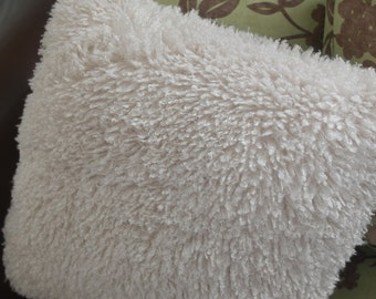 SALE 20 % off Fluffy Faux Lambskin pillow 20x20